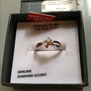 Sterling Silver And 14K Flash Gold Ring